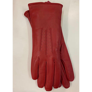 Ladies Red Leather Gloves
