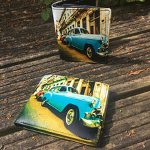 Load image into Gallery viewer, Leather Vintage Car Printed Wallet