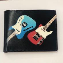 Load image into Gallery viewer, Leather Printed Guitar Wallet