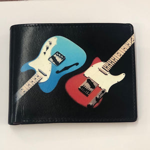 Leather Printed Guitar Wallet