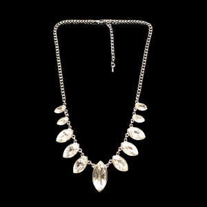 Elizabeth Silver & Crystal Short Necklace