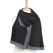 Load image into Gallery viewer, Dogtooth Pashmina Style Scarf