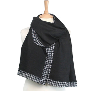 Dogtooth Pashmina Style Scarf