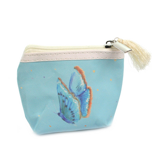 Blue Butterfly Small Coin Purse