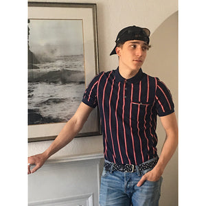 Couture Stripe Textured Polo