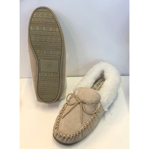 Ladies Suede Lambswool Moccasins