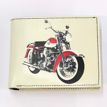 Load image into Gallery viewer, Leather Printed Bike Wallet