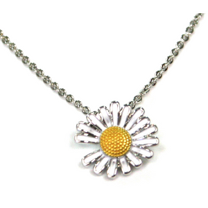 Daisy Necklace - Platinum Plated