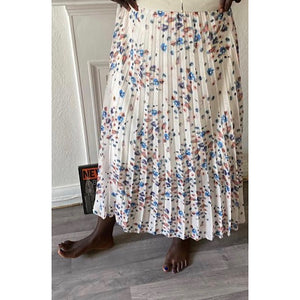 Cherry Blossom Pleated Skirt