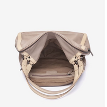 Load image into Gallery viewer, Taupe Leather Shoulder Hobo Bag