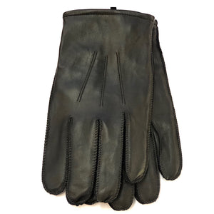 Gents Black Leather Gloves
