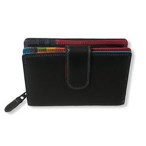 Ladies Medium Multi Leather Purse | The caribbean range