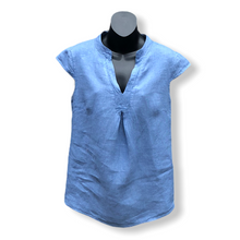 Load image into Gallery viewer, Casual Cap Shoulder V- Neck Linen Top