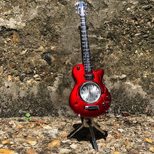 Load image into Gallery viewer, Miniature Clock - Red Guitar
