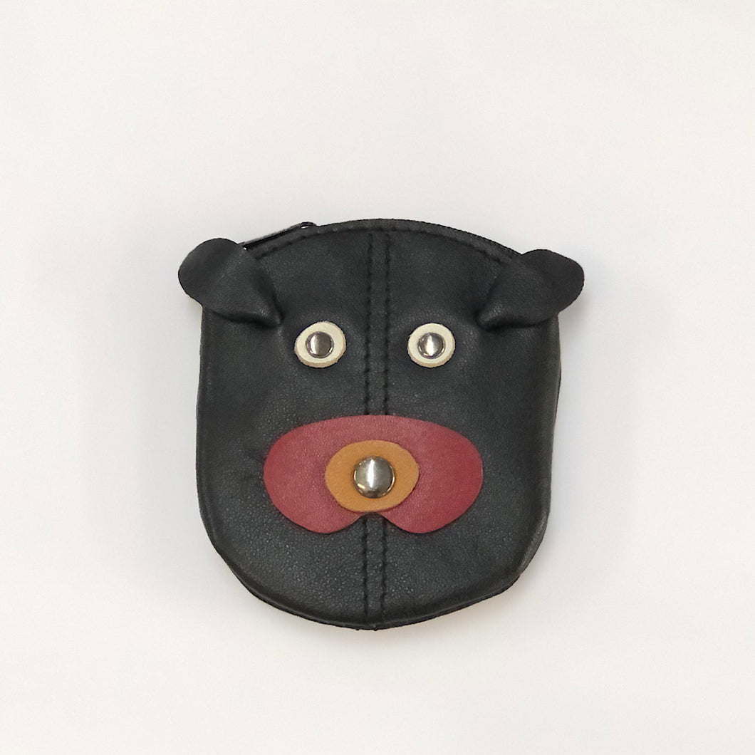Leather Dog Coin Purse