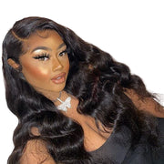 Virgin hair Body Wave Lace Front Wig