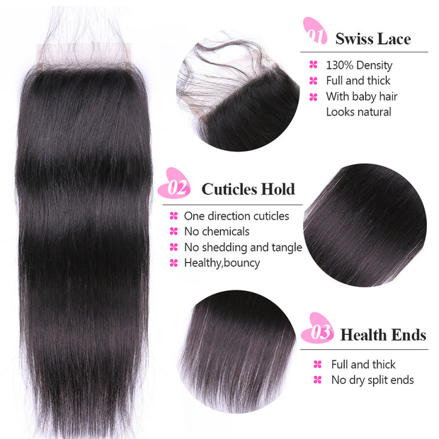 peruvian straight hair with closure