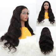 Aladye Malaysian Real Human Hair Body Wave 13X4 Lace Front Wig