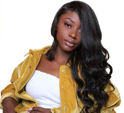 Aladye Brazilian Body Wave Lace Front Human Hair Wig For Women