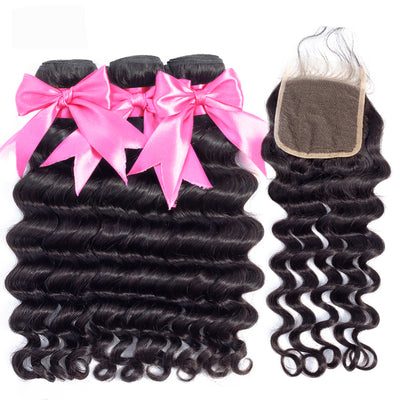 loose deep wave bundles with closure