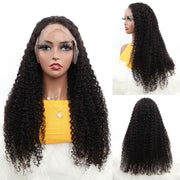 Aladye Water Wave Mongolian Virgin Human Hair 13X4 Lace Front Wig
