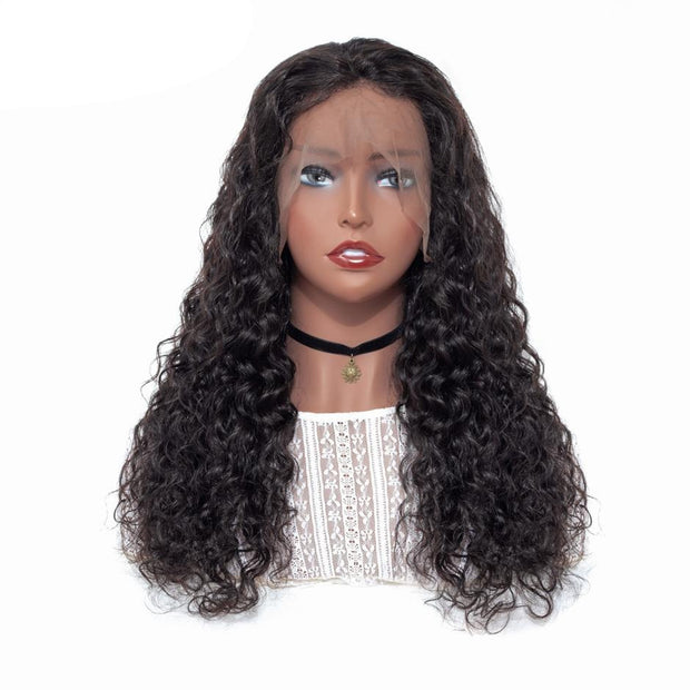 brazilian virgin human hair lace front wig