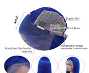 Aladye 150% Density Blue/Pink/613 Straight Lace Front Human Hair Wig