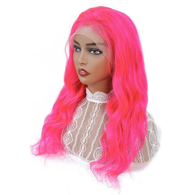pink lace front wigs human hair