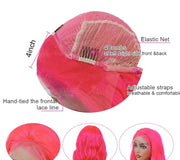 pink body wave wig