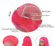 pink lace front wig human hair