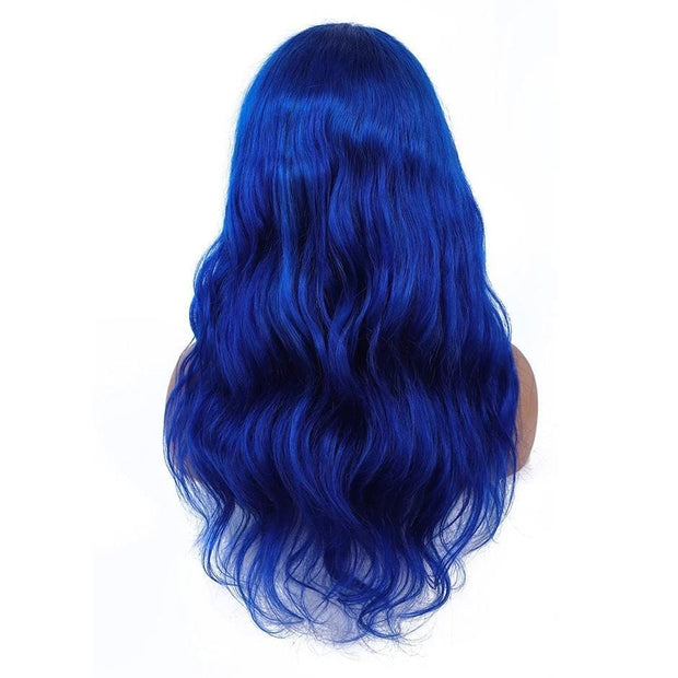 blue lace front wig human hair