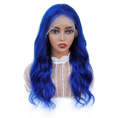 blue body wave wig