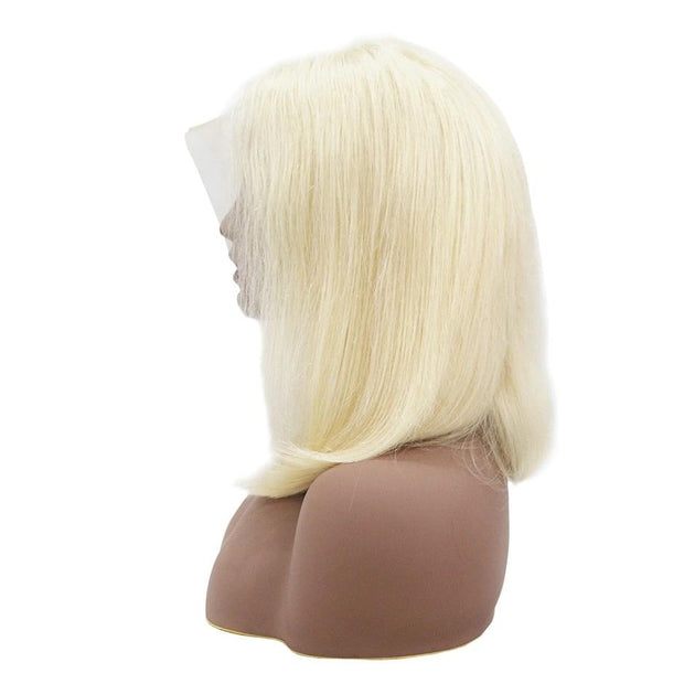 Aladye Brazilian Remy Human Hair Straight Bob Pre Plucked Lace Front Wig