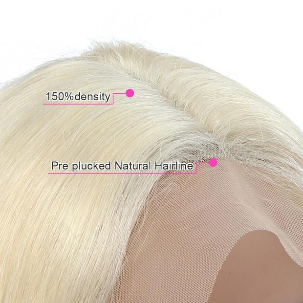 honey blonde lace front wig human hair