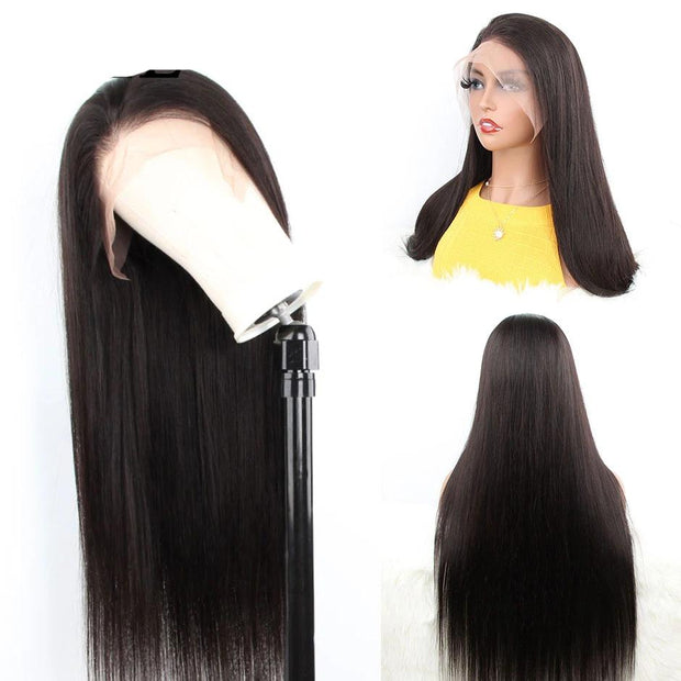 brazilian straight lace frontal wig