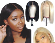 blonde bob wig black girl