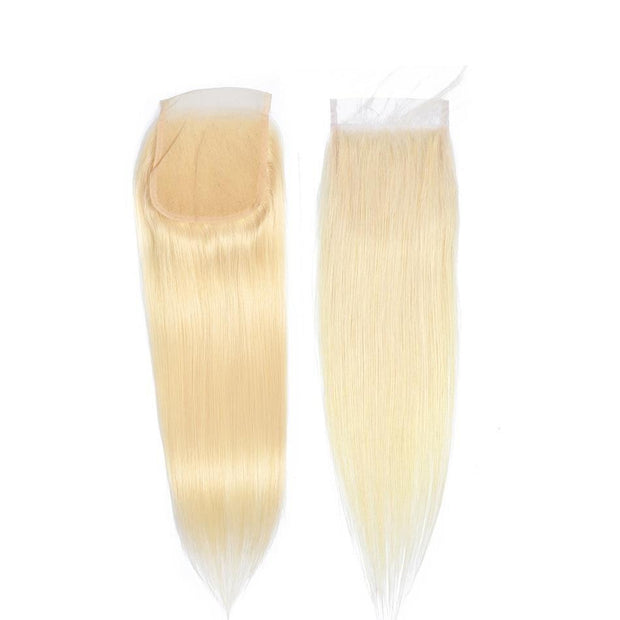 blonde brazilian hair bundles with closure