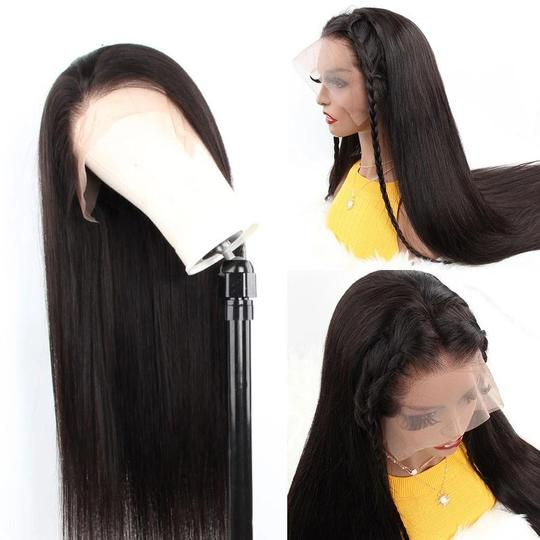 Aladye Straight Malaysian Virgin Human Hair Full Lace Wig