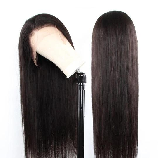 Aladye Straight Indian Virgin Human Hair Full Lace Wig