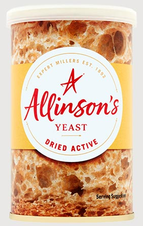 Allinson's Dried Active Yeast 125g