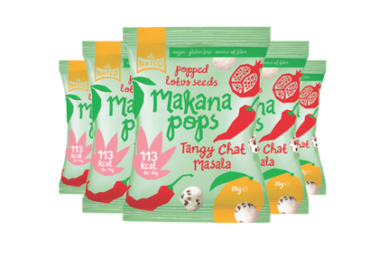 Makana Pops - Popped Lotus Seeds - Tangy Chat 12x25g Case