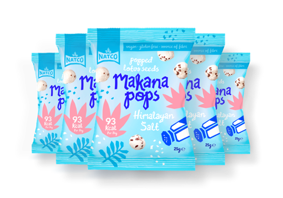 Makana Pops - Popped Lotus Seeds - Himalayan Salt 12x25g Case