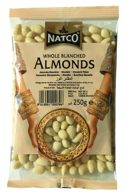 Almond Blanched Whole 250g