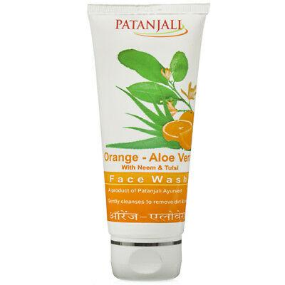 Patanjali Orange Aloe Vera Face Wash 60g