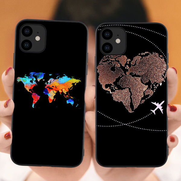 iPhone World Map And Travel Themed Case
