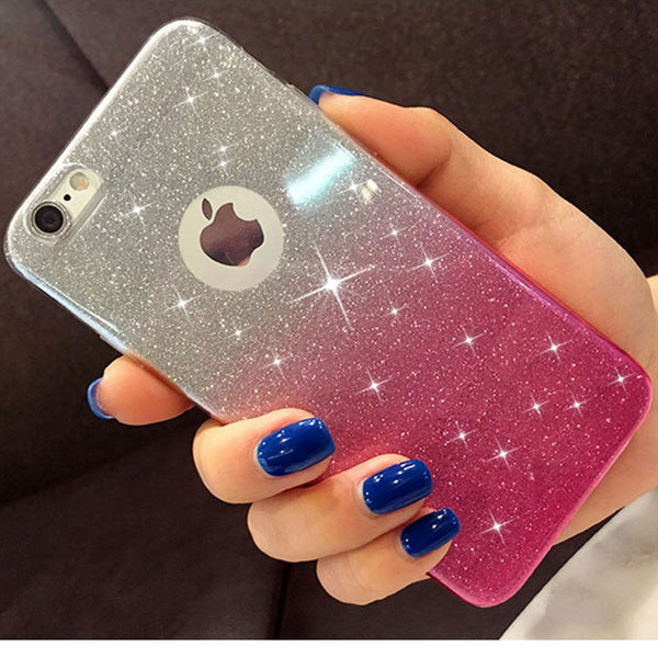 iPhone Glitter Soft Silicone Case