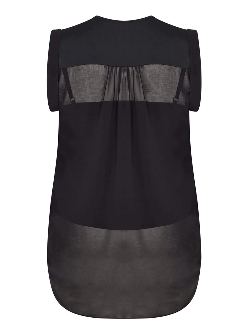 Chiffon Top with Satin Detail - Live Unlimited London