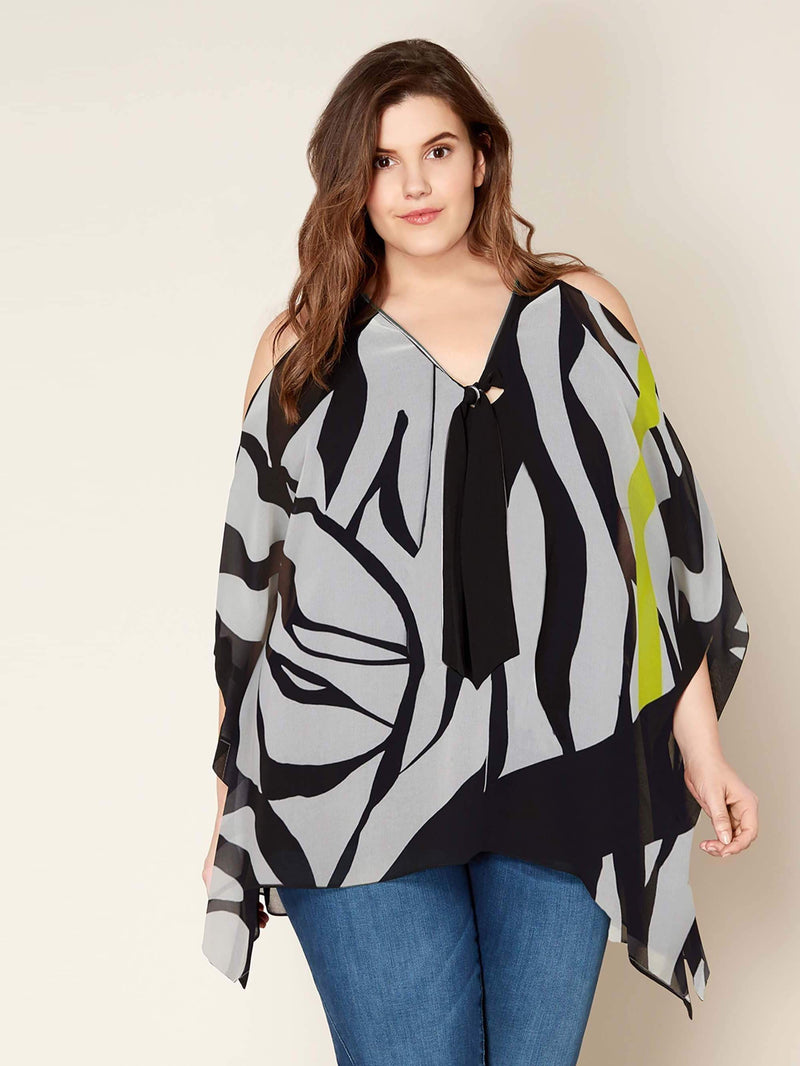 Chiffon Cold Shoulder Top - Live Unlimited London