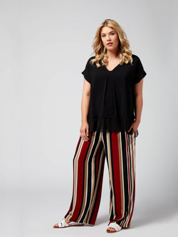 Printed Wide Leg Trouser - Live Unlimited London