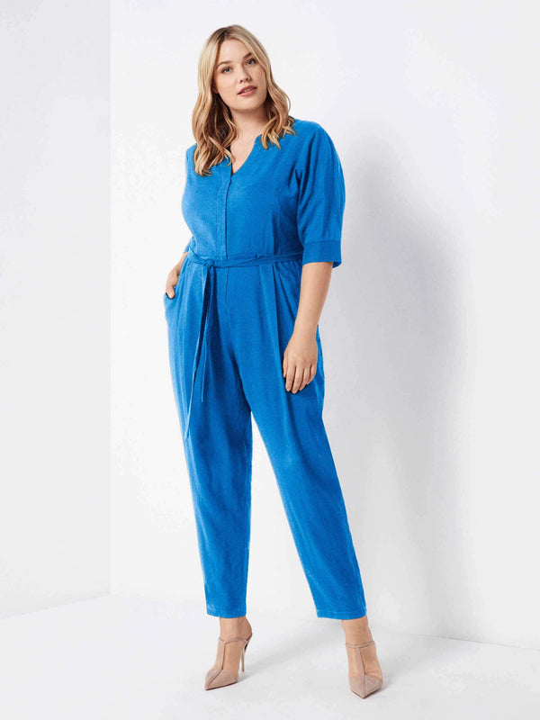Tie Waist Jumpsuit - Live Unlimited London